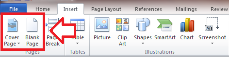 Word_Insert Tab_CoverBlank Page