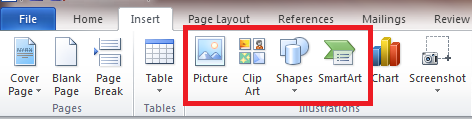 Word_Insert Tab_Insert images