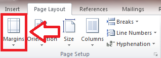 Word_Page Setup_Margins